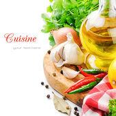Taze yemek malzemeler — Stok fotoğraf