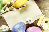Wielkanoc rama starodawny karty pocztowe — Zdjęcie stockowe