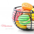 Colorful French macaroons - Stock Photo