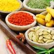 Colorful mix of spices — Stock Photo #22255879