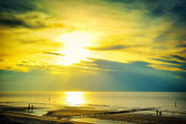 Golden sunset over North sea — Stock Photo