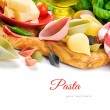 Fresh ingredients for Italian pasta - Stock Photo