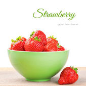 Fresh strawberry in a bowl — Stock Photo