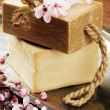 Natural handmade soap — Stock Photo