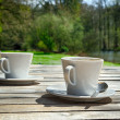 Foto Stock: Two cups of coffee
