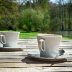 zwei tassen kaffee — Stockfoto