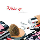 Colorful make-up products — Stock Photo