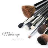 çeşitli makyaj fırçaları — Stok fotoğraf