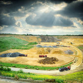Stone quarry working area — Stock Photo