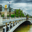 Beautiful bridge of Alexandre III in Paris - Stock Photo