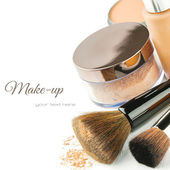 Foundation and powder — Foto de Stock