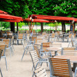 Cafe terrace in Tuileries Garden, Paris — Stock Photo