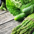 Fresh green vegetables — Stock Photo