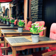 Stock Photo: cafe terrace in european city