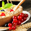Stock Photo: Bowl with cereals and fresh berries