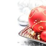 Red Christmas ball — Stock Photo #31081169