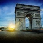 Arc de Triomphe at night — Stock Photo