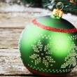 Green Christmas ball — Stock Photo #31903817