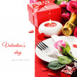 St Valentine's menu concept — Stock Photo
