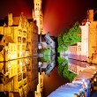 Night view of Bruges, Belgium — Stock Photo