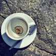 Top view of empty coffee cup — Stock Photo