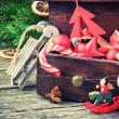 Stock Photo: Vintage Christmas decorations