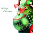 Christmas decoration with baubles — Foto Stock