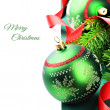 Christmas decoration with baubles — Foto de Stock