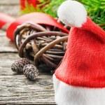 Santa's hat in Christmas setting — Стоковое фото