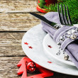 Christmas table setting — Stock Photo #35820629