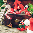 Foto Stock: Vintage Christmas decorations