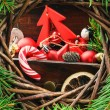 Vintage Christmas decorations — Stock fotografie