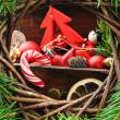 Старинные рождественские украшения — Стоковое фото