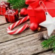 Christmas gifts and ornaments — Stockfoto