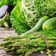 Green organic vegetables — Stock Photo