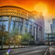 European Parliament building. Brussels, Belgium — Stock Photo