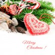 Foto Stock: Christmas decorations in vintage style