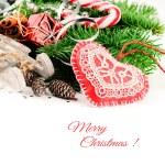 ビンテージ スタイルのクリスマスの装飾 — ストック写真