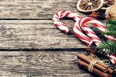 复古圣诞装饰品 — 图库照片