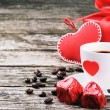 St Valentine's breakfast — Stock Photo