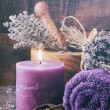 Lavender spa setting — Stock Photo #39682763