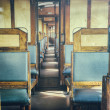 Last century rail car interior — Stock Photo #39682867