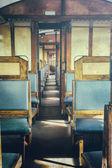 Last century rail car interior — Stock Photo