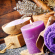 Lavender spa setting — Stock Photo #40128551