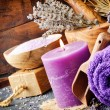 Stock Photo: Lavender spa setting