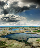 Coast of North Sea, France — Stock Photo