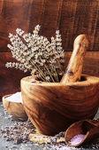 Lavender spa setting — Stock Photo