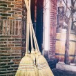Traditional brooms — Stock Photo #42580747