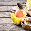 Easter  table setting with quail eggs — Stock Photo #43197631