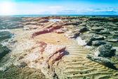 Rocky coast of North Sea, France — Stock Photo